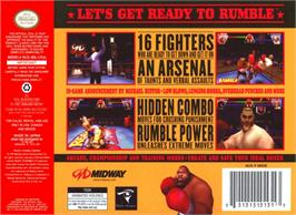 Box back cover for Ready 2 Rumble Boxing on the Nintendo N64.