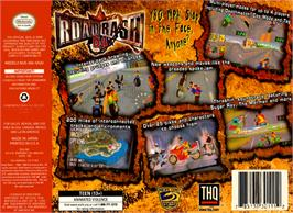 Box back cover for Road Rash 64 on the Nintendo N64.