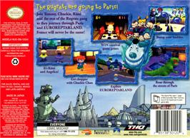 Box back cover for Rugrats in Paris: The Movie on the Nintendo N64.