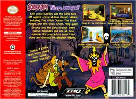 Box back cover for Scooby Doo! Classic Creep Capers on the Nintendo N64.