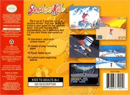 Box back cover for Snowboard Kids on the Nintendo N64.