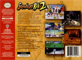 Box back cover for Snowboard Kids 2 on the Nintendo N64.