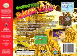 Box back cover for Space Station Silicon Valley on the Nintendo N64.