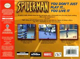 Box back cover for Spider-Man on the Nintendo N64.