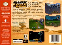 Box back cover for Star Wars: Episode I - Battle for Naboo on the Nintendo N64.