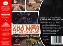 Box back cover for Star Wars: Episode I - Racer on the Nintendo N64.