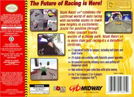 Box back cover for Stunt Racer 64 on the Nintendo N64.