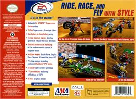 Box back cover for Super Cross 2000 on the Nintendo N64.