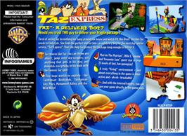Box back cover for Taz Express on the Nintendo N64.