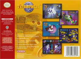 Box back cover for Tetrisphere on the Nintendo N64.
