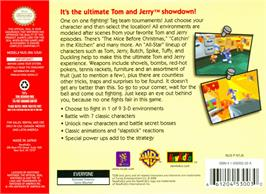 Box back cover for Tom and Jerry: Fists of Furry on the Nintendo N64.