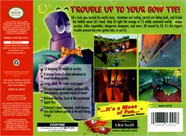 Box back cover for Tonic Trouble on the Nintendo N64.