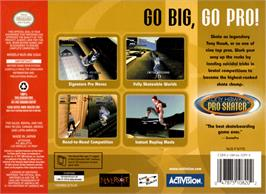 Box back cover for Tony Hawk's Pro Skater on the Nintendo N64.