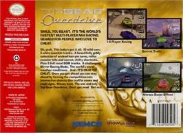 Box back cover for Top Gear Overdrive on the Nintendo N64.