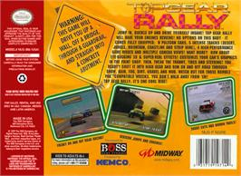 Box back cover for Top Gear Rally on the Nintendo N64.
