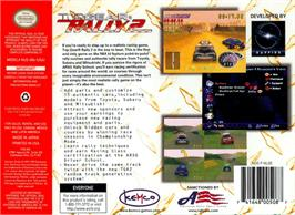 Box back cover for Top Gear Rally 2 on the Nintendo N64.