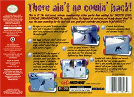 Box back cover for Twisted Edge: Extreme Snowboarding on the Nintendo N64.