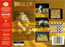 Box back cover for Virtual Chess 64 on the Nintendo N64.