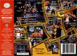 Box back cover for WCW/NWO Revenge on the Nintendo N64.