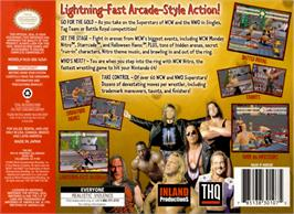 Box back cover for WCW Nitro on the Nintendo N64.