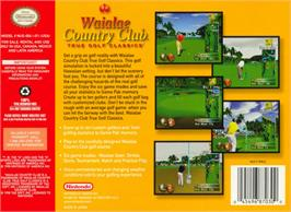Box back cover for Waialae Country Club: True Golf Classics on the Nintendo N64.
