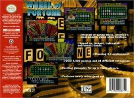 Box back cover for Wheel Of Fortune on the Nintendo N64.