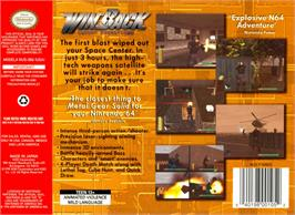 Box back cover for WinBack: Covert Operations on the Nintendo N64.