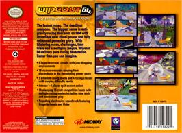 Box back cover for Wipeout 64 on the Nintendo N64.