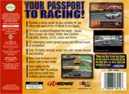 Box back cover for World Driver Championship on the Nintendo N64.