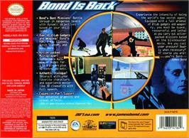 Box back cover for World is Not Enough on the Nintendo N64.