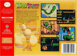 Box back cover for Yoshi's Story on the Nintendo N64.