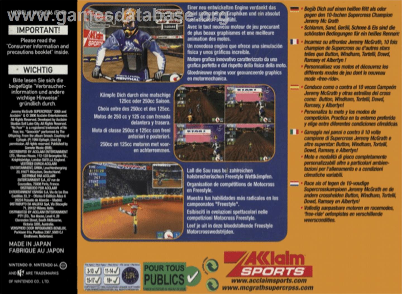 Jeremy McGrath Supercross 2000 2000 Acclaim Entertainment