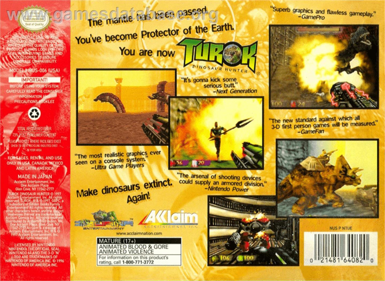 dinosaur hunter year 1997 tosec turok dinosaur hunter category shooter