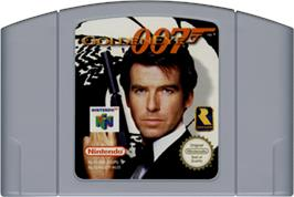 Cartridge artwork for 007: Golden Eye on the Nintendo N64.
