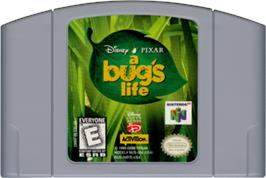 Cartridge artwork for A Bug's Life on the Nintendo N64.