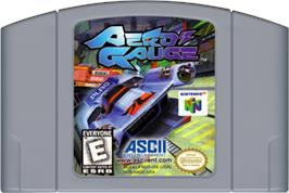 Cartridge artwork for AeroGauge on the Nintendo N64.