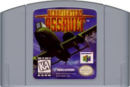 Cartridge artwork for Aero Fighters Assault on the Nintendo N64.