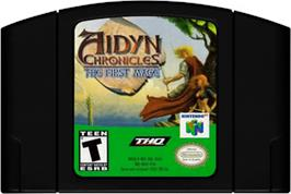 Cartridge artwork for Aidyn Chronicles: The First Mage on the Nintendo N64.
