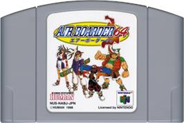 Cartridge artwork for Air Boarder 64 on the Nintendo N64.