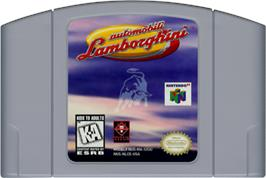 Cartridge artwork for Automobili Lamborghini: Super Speed Race 64 on the Nintendo N64.