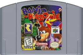 Cartridge artwork for Banjo-Kazooie on the Nintendo N64.