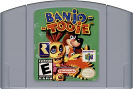 Cartridge artwork for Banjo-Tooie on the Nintendo N64.