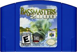 Cartridge artwork for Bassmasters 2000 on the Nintendo N64.