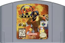 Cartridge artwork for Blast Corps on the Nintendo N64.
