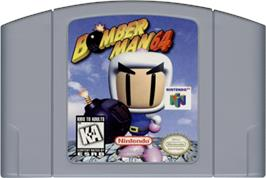 Cartridge artwork for Bomberman 64: Arcade Edition on the Nintendo N64.