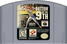 Cartridge artwork for Bottom of the Ninth on the Nintendo N64.