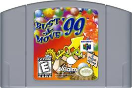 Cartridge artwork for Bust a Move '99 on the Nintendo N64.