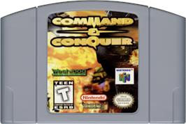 Cartridge artwork for Command & Conquer on the Nintendo N64.