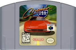 Cartridge artwork for Cruis'n USA on the Nintendo N64.
