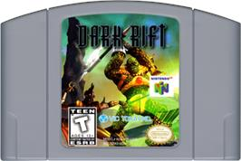Cartridge artwork for Dark Rift on the Nintendo N64.